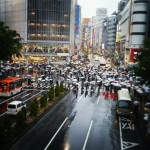One of the busiest pedestrian crossings in the world - Tokyo
