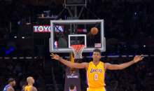Nick Young's premature three-point celebration